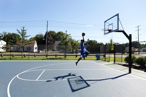 Basketball Dunker Flying